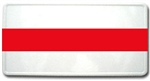 Reflective Firefighter Thin Red Line License Plate White