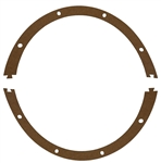 Gasket, Vacuum Pump {one circle - one vacuum pump requires 2- has two halves}
