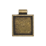 Square Bezel - Antique Gold
