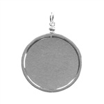 Pocket Watch Bezel - Silver