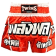 Twins Red-Silver Muaythai Shorts