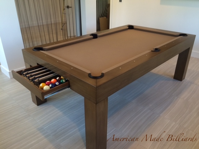 Modern pool tables almond drawer - Modern pool table ...