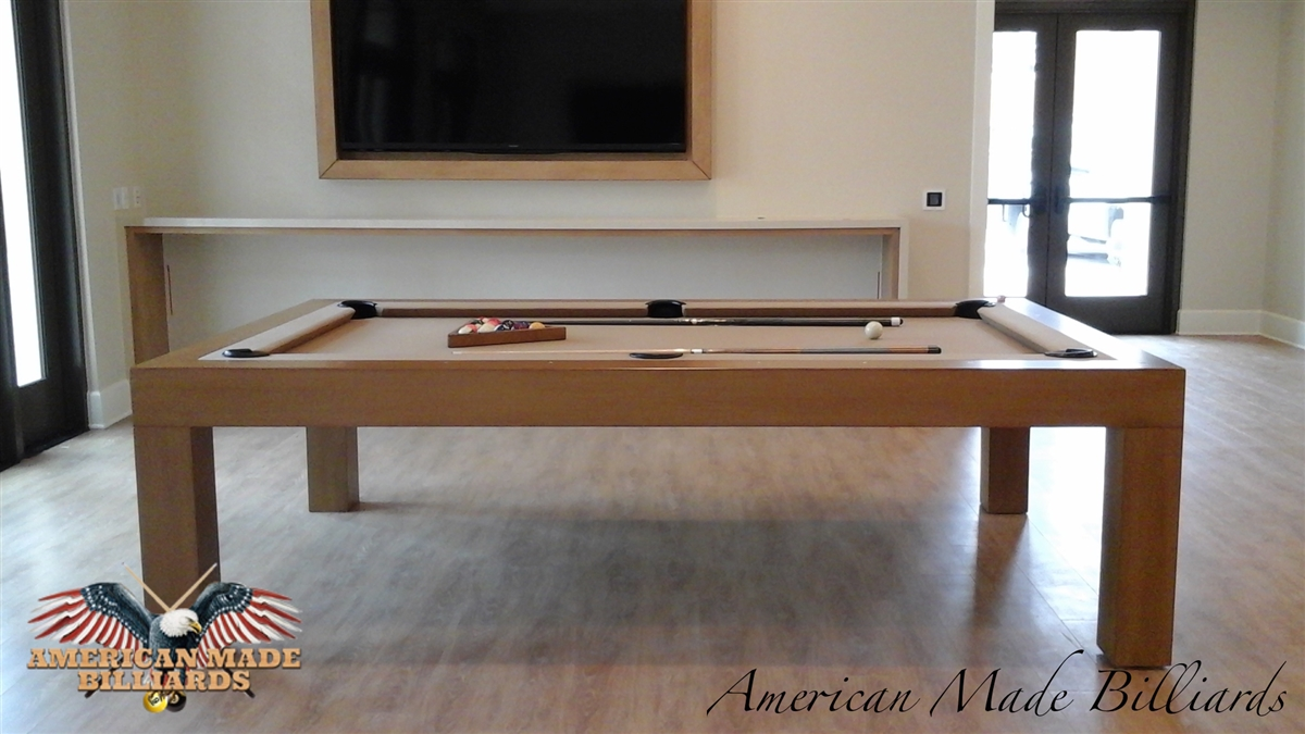 Modern Pool Tables Honey Caramel Finish - American pool table company