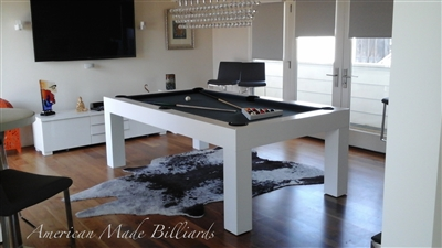 Modern Pool Table, White Pearl