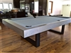 Riviera Oak Contemporary Steel Pool Table