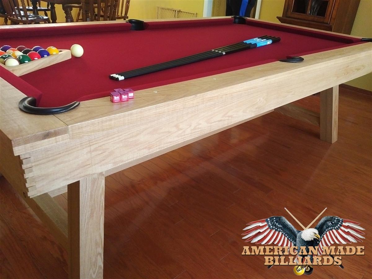 Modern White Oak Rustic Picnic Pool Tables - White billiard table