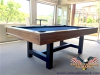 Malibu Walnut Contemporary Pool Tables