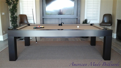 Modern Pool Table, Expresso