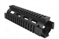 "7"" DROP IN QUAD RAIL BLACK"