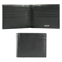 CFM243 Calfskin Leather Wallet - Black