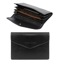Tuscany Leather TL140786 Exclusive leather wallet for women - Black