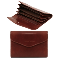 Tuscany Leather TL140786 Exclusive leather wallet for women - Brown