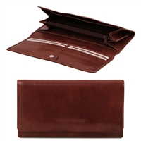 Tuscany Leather TL140787 Exclusive leather wallet for women - Brown