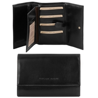 Tuscany Leather TL140796 Exclusive leather wallet for women - Black
