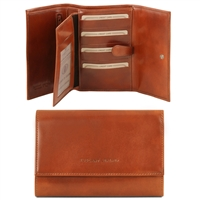 Tuscany Leather TL140796 Exclusive leather wallet for women - Honey