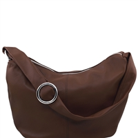 Tuscany Leather Yvette Hob Bag TL140900 - Dark Brown