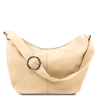 Tuscany Leather Yvette Hobo Bag TL140900 - Beige