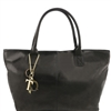 "Tuscany Leather TL141207 Leather ""Sauvage"" shoulder bag - Black"