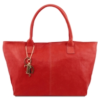 "Tuscany Leather TL141207 Leather ""Sauvage"" shoulder bag - Red"
