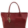 "Tuscany Leather TL141207 Leather ""Sauvage"" shoulder bag - Bordeaux"