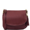 Tuscany Leather TL141223 Small Soft leather shoulder bag - Bordeaux