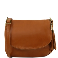 Tuscany Leather TL141223 Small Soft leather shoulder bag - Cognac