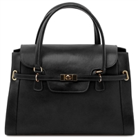 Tuscany Leather TL14230 NeoClassic Handbag - Black