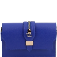 Tuscany Leather Saffiano Leather Clutch - Blue