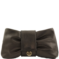 Tuscany Leather TL141358 Priscilla Clutch - Black