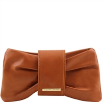 Tuscany Leather TL141358 Priscilla Clutch - Cognac
