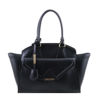 Tuscany Leather TL141416 Vesta Ruga Leather Bag - Black
