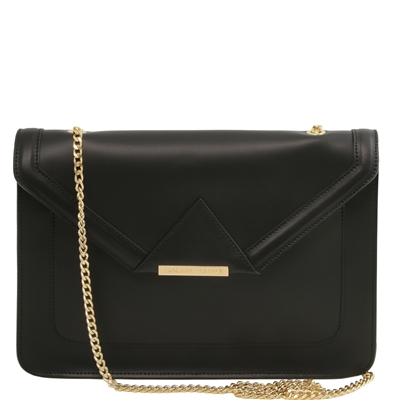 Tuscany Leather TL141417 Iride Ruga Leather Clutch - Black