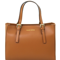 TL141434 Ruga Leather Handbag - Cognac