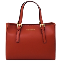 Tuscany Leather TL141434 Ruga Leather Handbag - Red