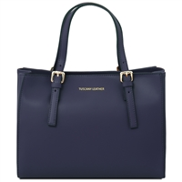 TL141434 Ruga Leather Handbag - Dark Blue