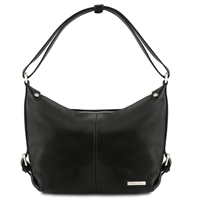 TL141479 Tuscany Leather Sabrina Leather Hobo Bag - Black