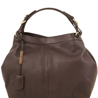 Tuscany Leather TL141516 Ambrosia Soft Leather Bag - Dark Brown