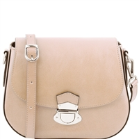 Tuscany Leather TL141517 Neoclassic Shoulder Bag - Beige