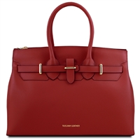 Tuscany Leather TL141548 Elettra Leather Handbag Red