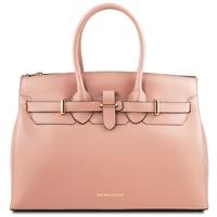 Tuscany Leather TL141548 Elettra Leather Handbag Nude