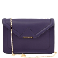Tuscany Leather TL141417 Iride Ruga Leather Clutch - Blue