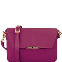 Tuscany Leather TL141584 Ruga Leather Bag Purple