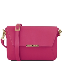 Tuscany Leather TL141584 Ruga Leather Bag Magenta