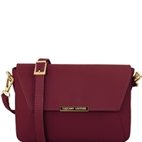 Tuscany Leather TL141584 Ruga Leather Bag Bordeaux