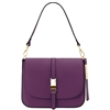 Tuscany Leather TL141598 Nausica Ruga Leather Shoulder Bag Magenta