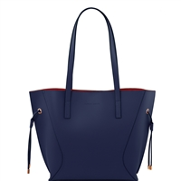 Tuscany Leather TL141625 Nemesi Ruga Leather Handbag - Dark Blue
