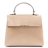 TL141628 Small Saffiano Leather Duffel Bag by Tuscany Leather Nude