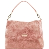 Tuscany Leather TL141637 Aged Effect Leather Handbag Dusty Rose
