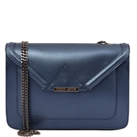 Tuscany Leather TL141641 Iride Metallic Leather Clutch - Blue