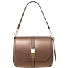 Tuscany Leather TL141642 Nausica Ruga Leather Shoulder Bag in Metallic Bronze